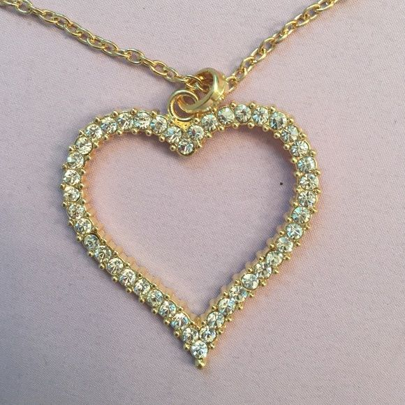 Heart necklace Gold heart necklace Jewelry Necklaces
