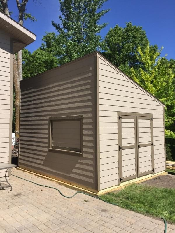 10x16 Utility Shed with Lean-to-Roof. LP LapSiding to ...