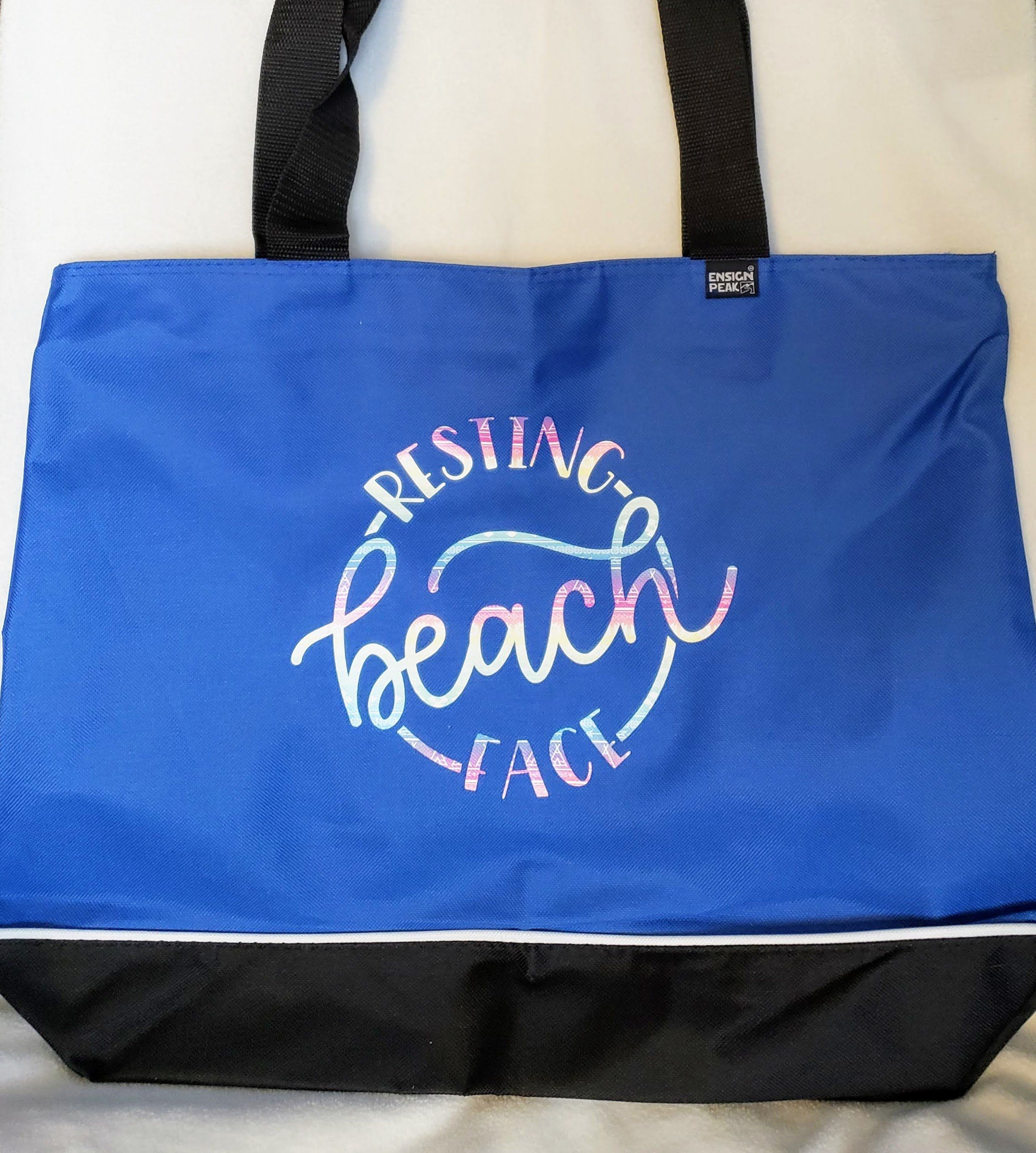 Heavyduty zippered tote Resting Beach Face Etsy