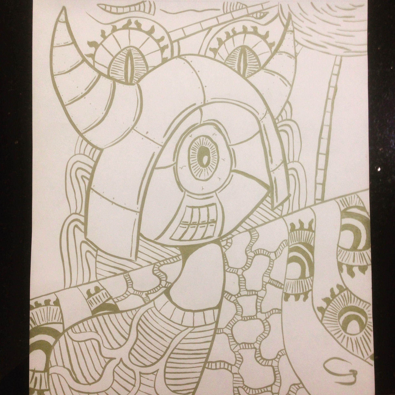 Abstract Art I Call Little Viking Organized Chaos