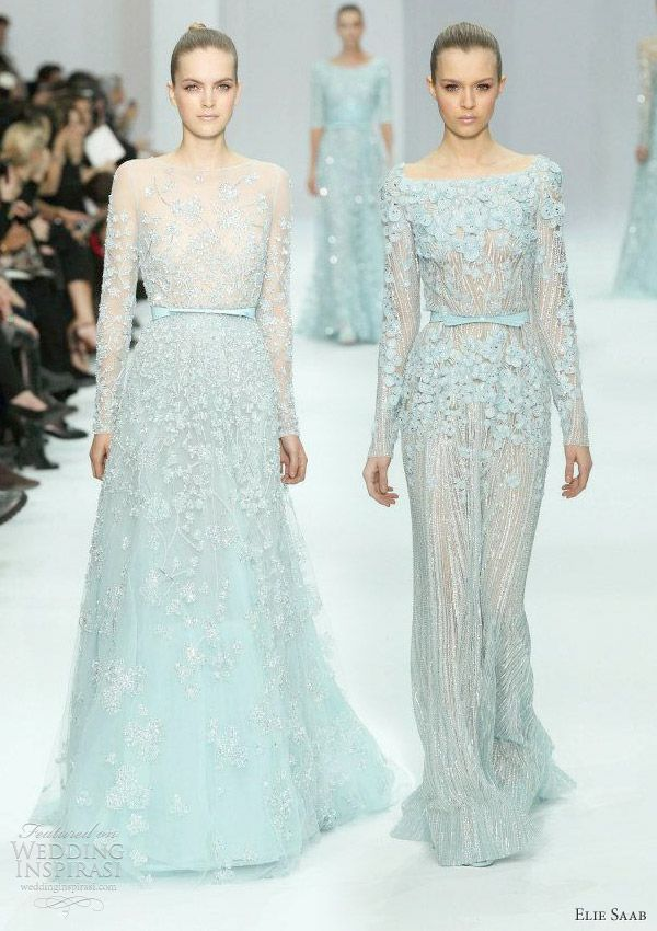 771e9053ced53 Aqua - Elie Saab Spring/Summer 2012 Couture collection, an absolutely  delightful collection of gowns in a gentle, pastel palette