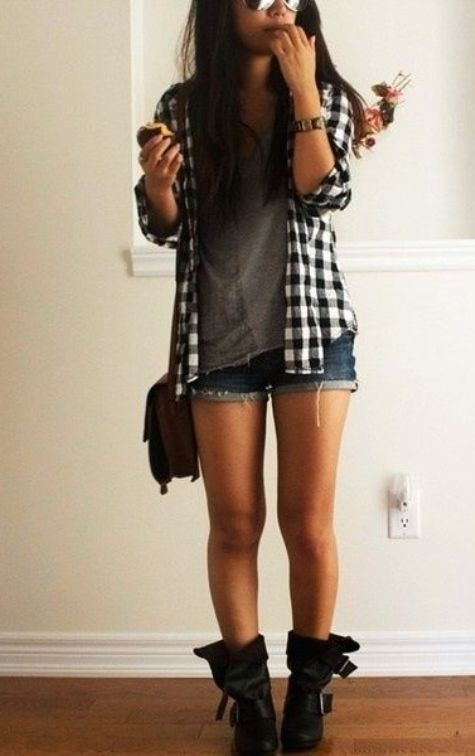 marvelous Teenage Girls Styles Part - 9: Teenage Girls Styles with Combat Boots