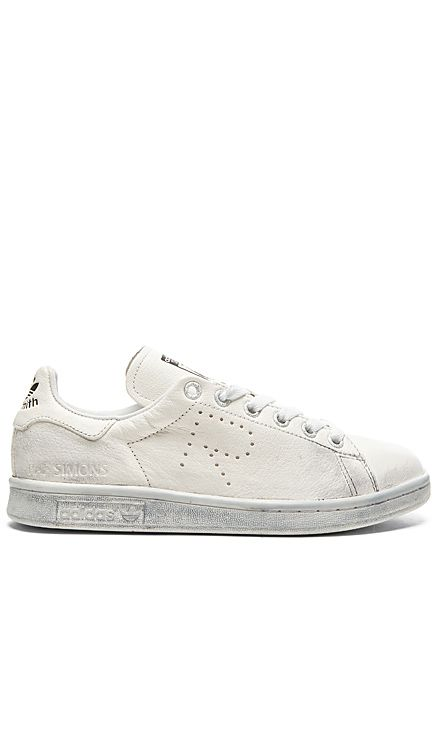 Adidas By Raf Simons Stan Smith Aged Sneaker In White Black Revolve Raf Simons Adidas Raf Simons Stan Smith Sneakers