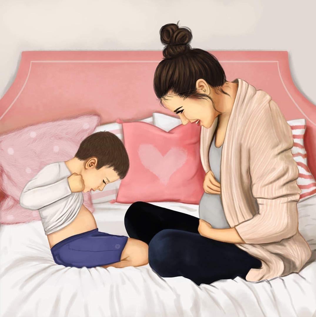 Мама с сыном картинки рисунки арт