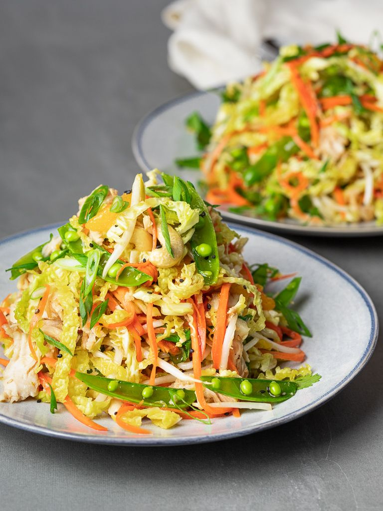 If You Can T Get Enough Of Chinese Chicken Salad Try This Much Lighter Recipe Recipe Healthy Chinese Recipes Healthy Chicken Recipes Healthy Chinese