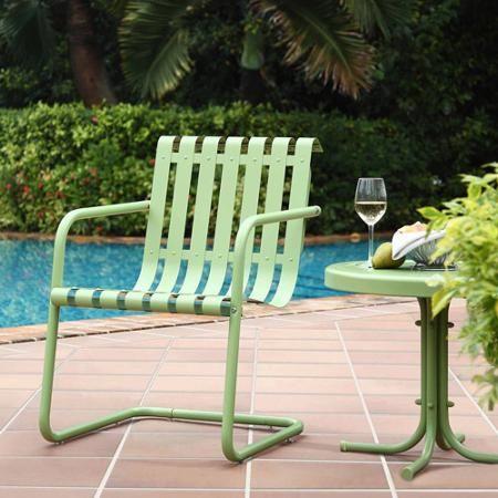 Patio Garden Stainless Steel Chair