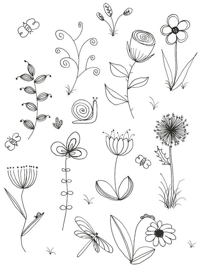 1001 Images De Dessin De Fleur Pour Apprendre A Dessiner Risunki Cvetov Cvetochnoe Iskusstvo I Risunki