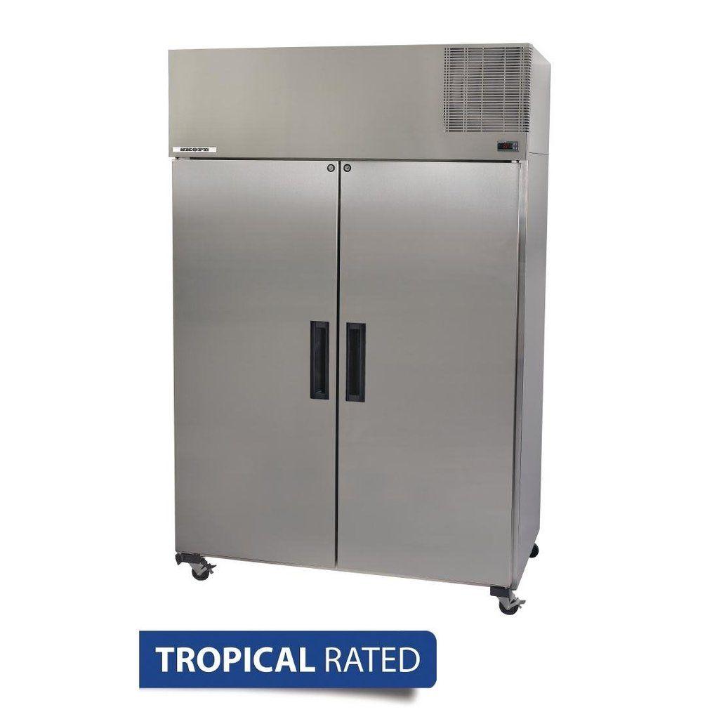 Skope Pegasus Double Door Upright Gastronorm Freezer Pg1300 Locker Storage Commercial Catering Equipment Double Doors