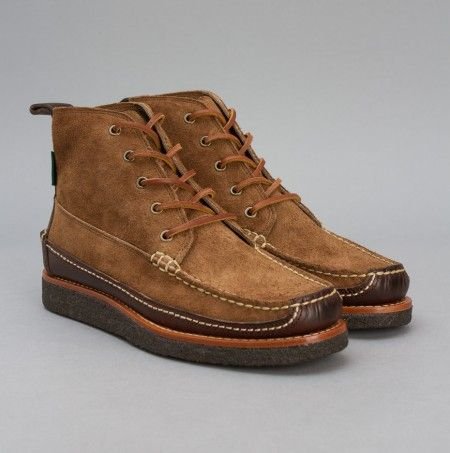 Eastland Stonington Camp Moc Boot in Wheat Suede