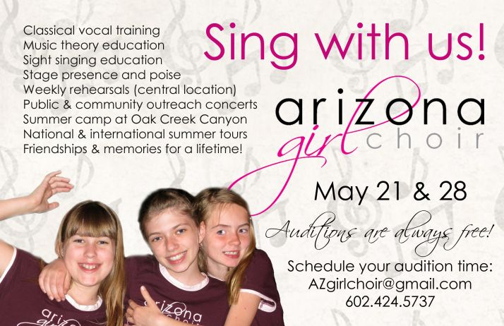 Auditions for the Arizona Girlchoir.