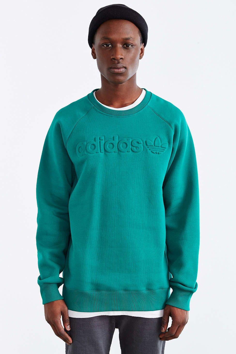Adidas Originals Premium Fleece Crew Neck Sweatshirt Sweatshirts Long Sleeve Tshirt Men Crew Neck Sweatshirt [ 1463 x 975 Pixel ]
