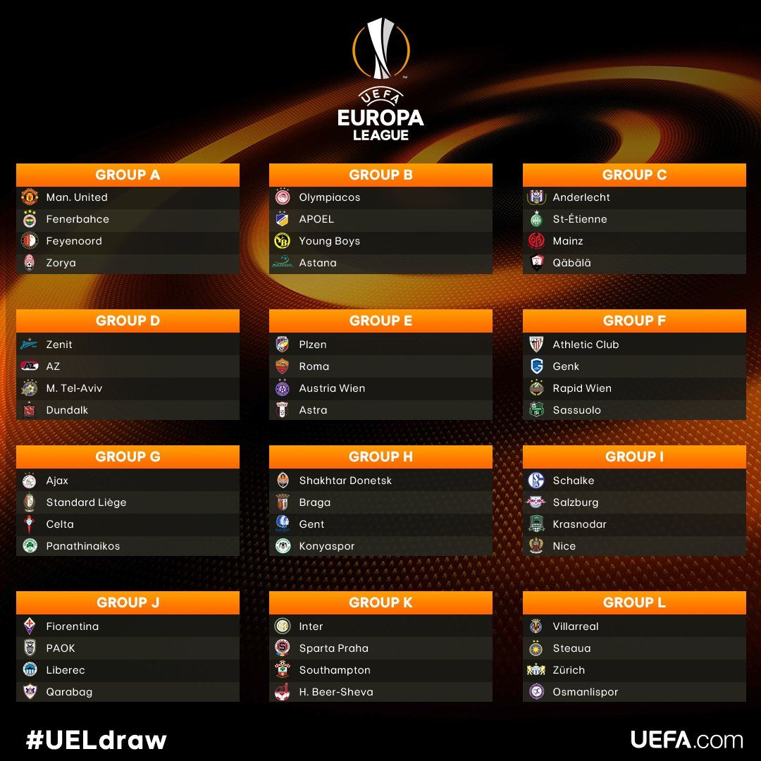europa league draw 2016 17