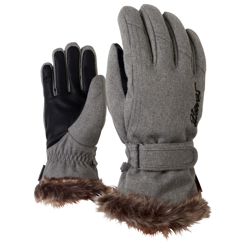 Womens leather ski gloves - Ziener Kim Ski Gloves Women Grey Metal Wool Fabricwarm Ziener Gloves Lovely Gloves Of