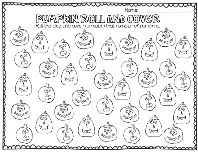 Number Names Worksheets : pumpkin math worksheets kindergarten ...