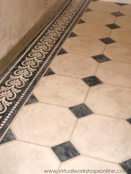 Quot Octagon And Dot Quot Bathroom Tile Treatment With Skimstone
