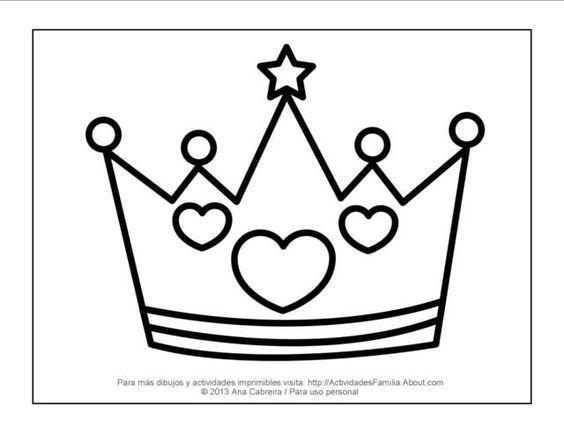 Resultado De Imagen Para Dibujos Para Pintar De Princesas: Resultado De Imagen Para Moldes De Coronas De Princesas