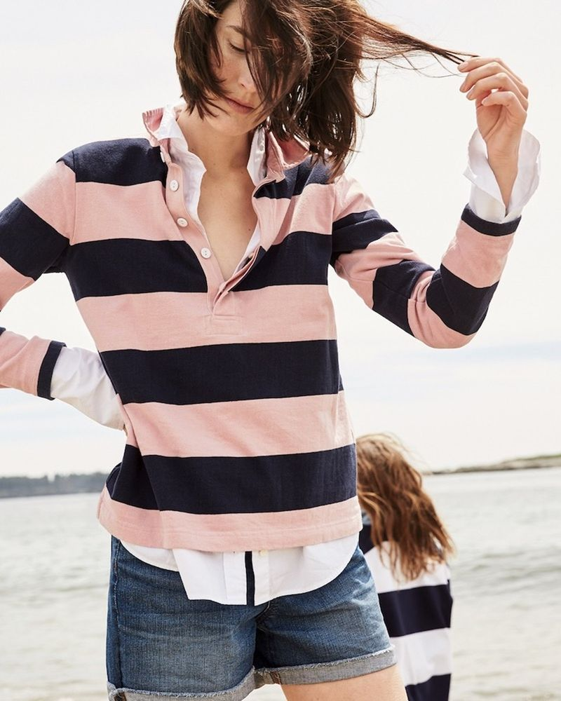 f3c03a710 NWT J. Crew Tippi Women's 1984 Rugby Shirt in Stripe Size S #JCREW #Rugby  #versatile