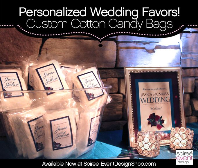 Custom Cotton Candy Bags With Personalized Labels Now Available