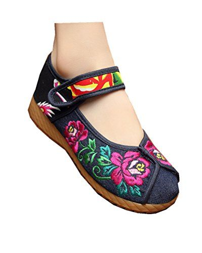 70de5c188 Tianrui Crown Womens Chinese Embroidery Casual Mary Jane Shoes -- Want to  know more, click on the image.