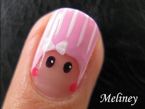 8d4ab2ad066 Nail Art Tutorial - Beanie Baby Peek-A-Boo Finger Army 2.0 Design mini  nicki minaj - YouTube meliny