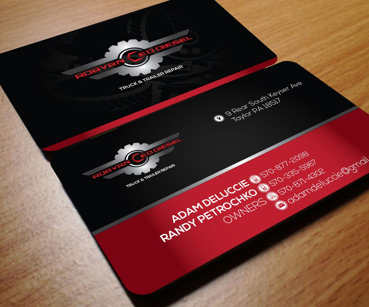 Truck & Trailer Repair Business Cards. | hubby logo | Pinterest ...