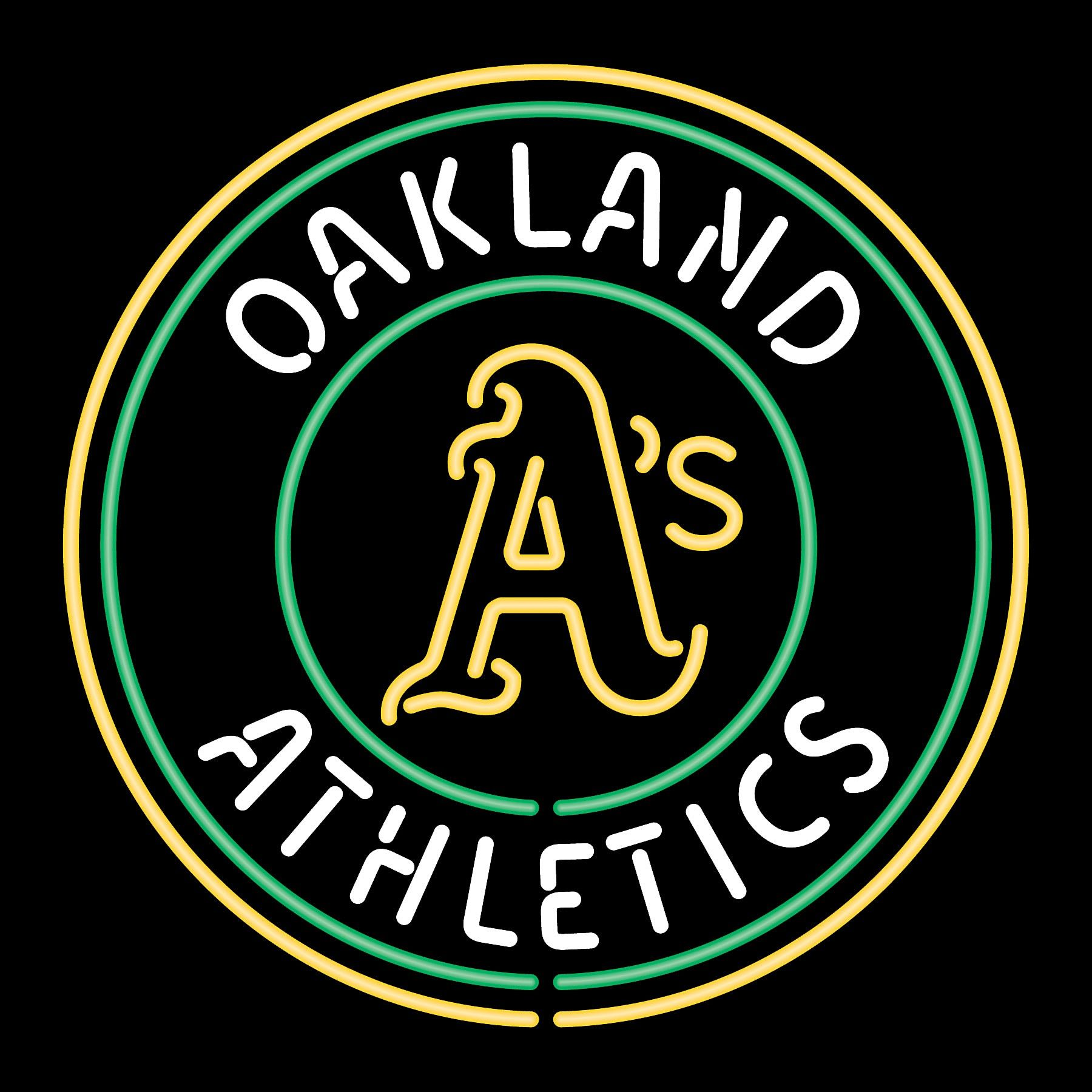 Image Detail For Oakland Athletics Neon Sign Mancavegoodies Com Neon Signs Neon Beer Signs Oakland Athletics