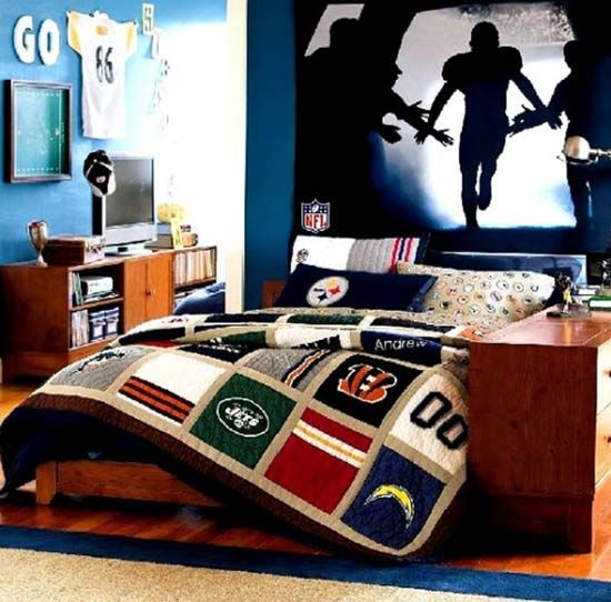 Bon Sporty Boy Bedroom Decor Ideas