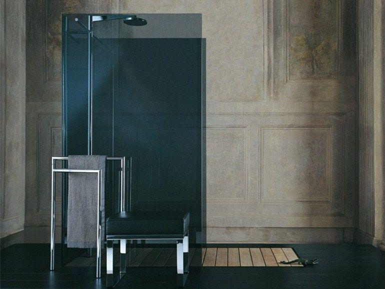 Design Bagno Con Doccia : Box doccia in vetro temperato con piatto raso filodoccia isola open