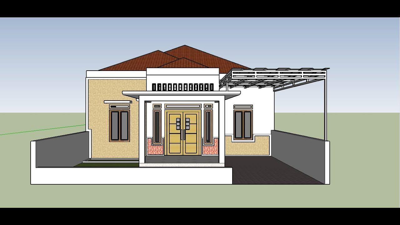 Model Terbaru Desain Rumah Sederhana Tapi Elegan Dengan Batu Alam Dan Ta Rumah Home Fashion Denah Rumah