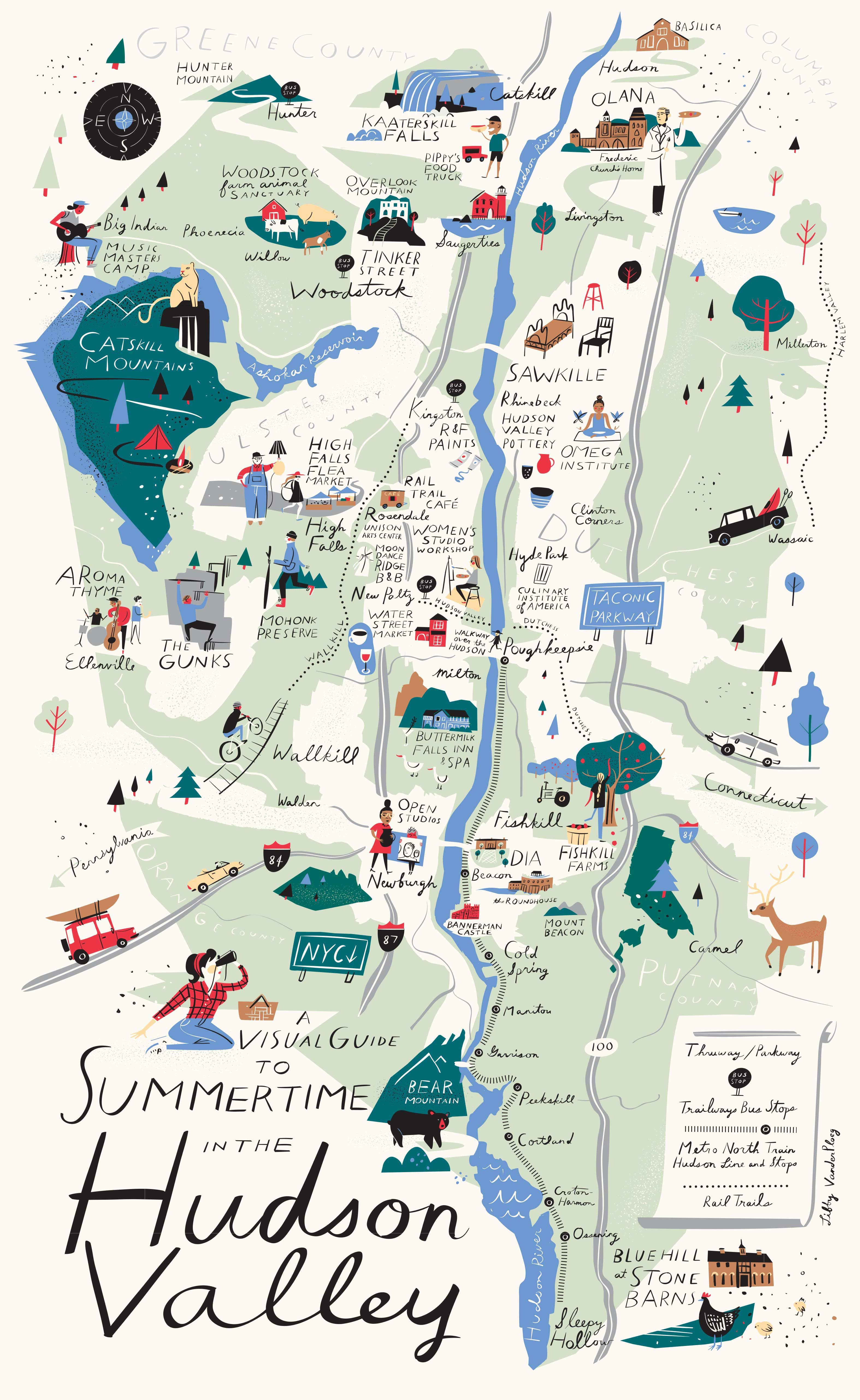 Hudson Ny Map >> A Visual Guide To Summertime In The Hudson Valley Upstater