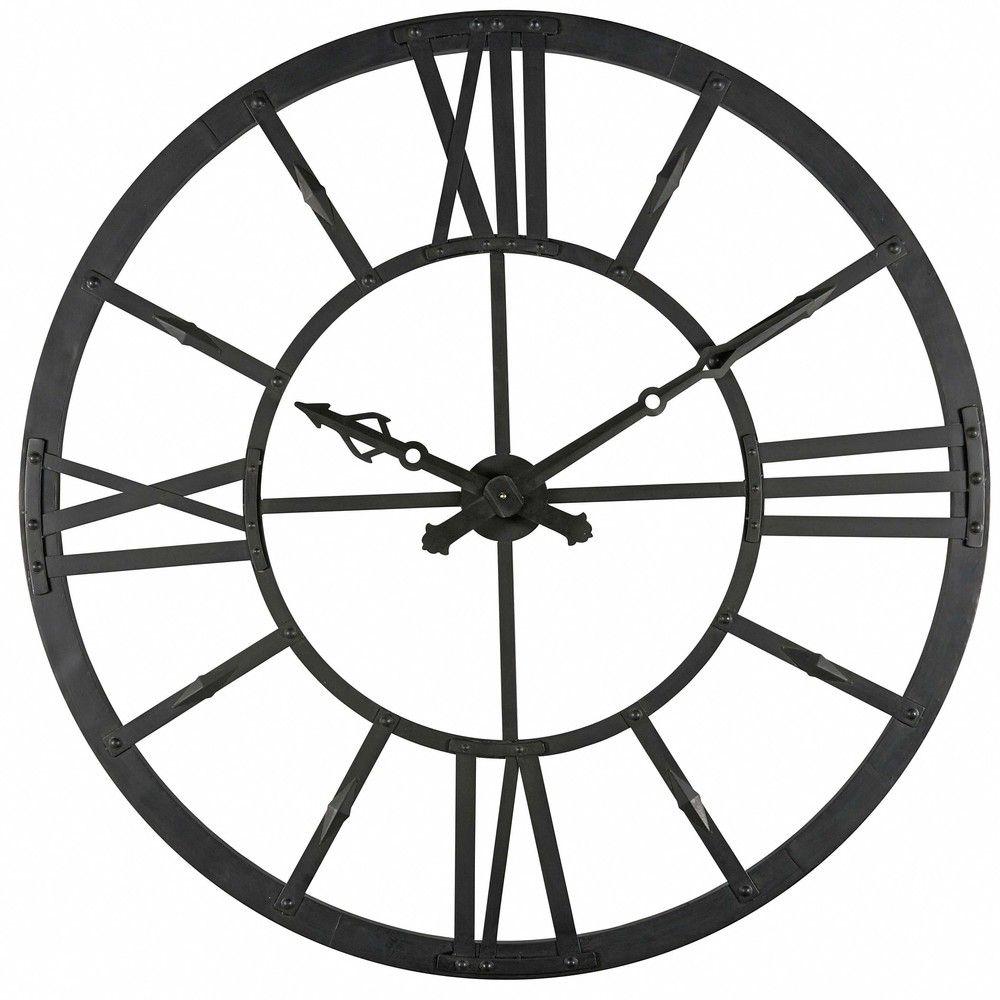 Black metal light up clock d 121 cm black metal clocks and lights duke black metal light up clock d mozeypictures Gallery
