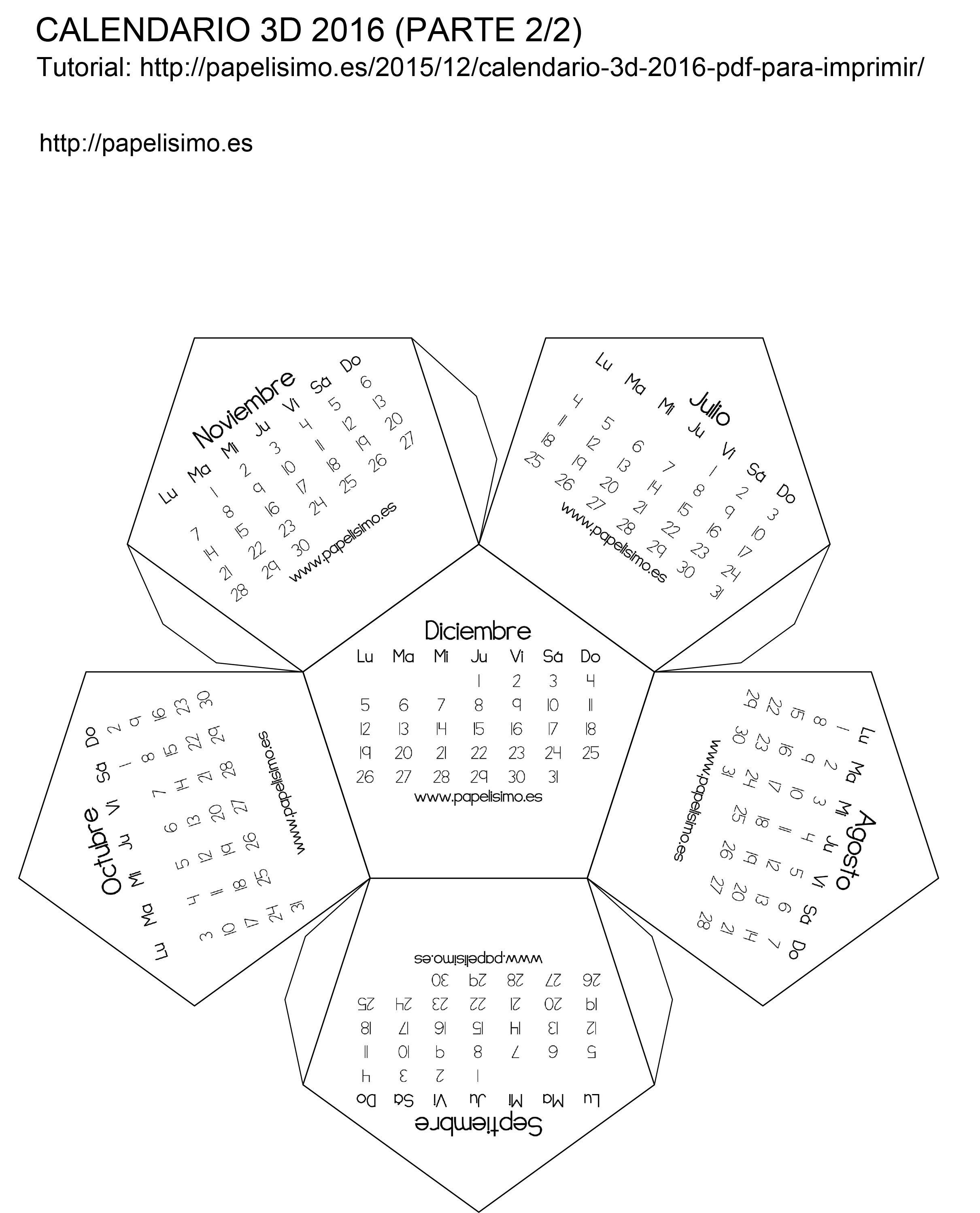 Modelo | artesanía | Pinterest | Plantilla calendario, Calendario ...