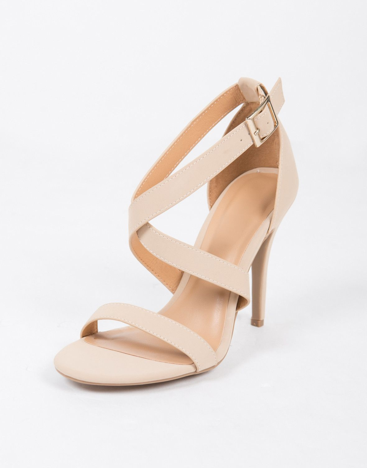 a6d8012e796 Criss Cross Strappy Heels | shoes and stuff | Strappy heels, Shoes ...