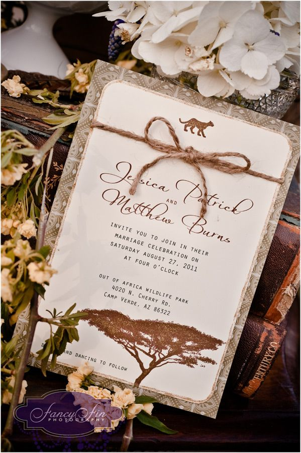 Zambian Wedding Invitation Cards