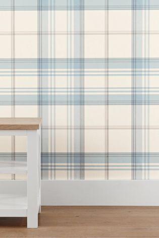 Best Powder Blue Check Wallpaper Wallpaper Living Room Blue 400 x 300