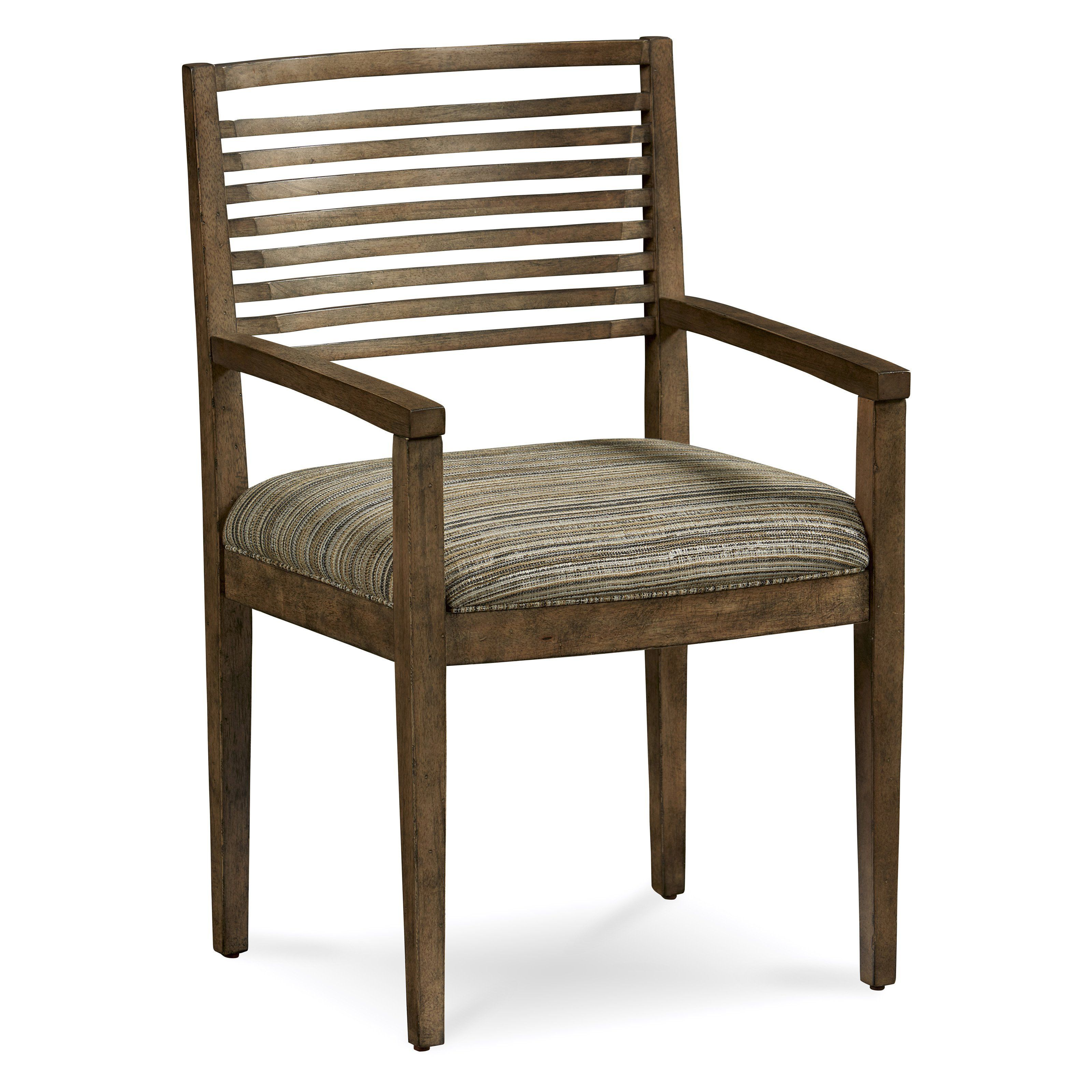 slat back dining chair with arms