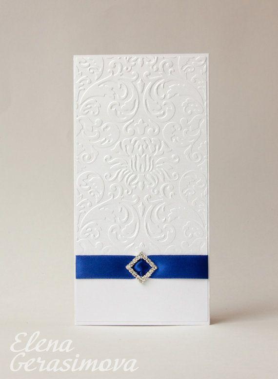 Handmade Wedding Card Blue