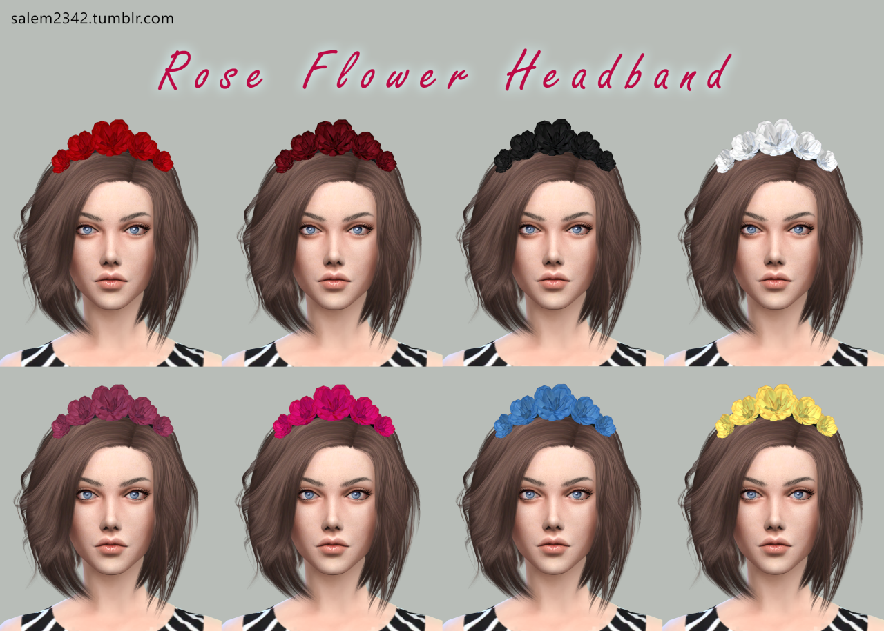 The sims 4 hair accessories - Rose Flower Headband At Via Sims 4 Updates