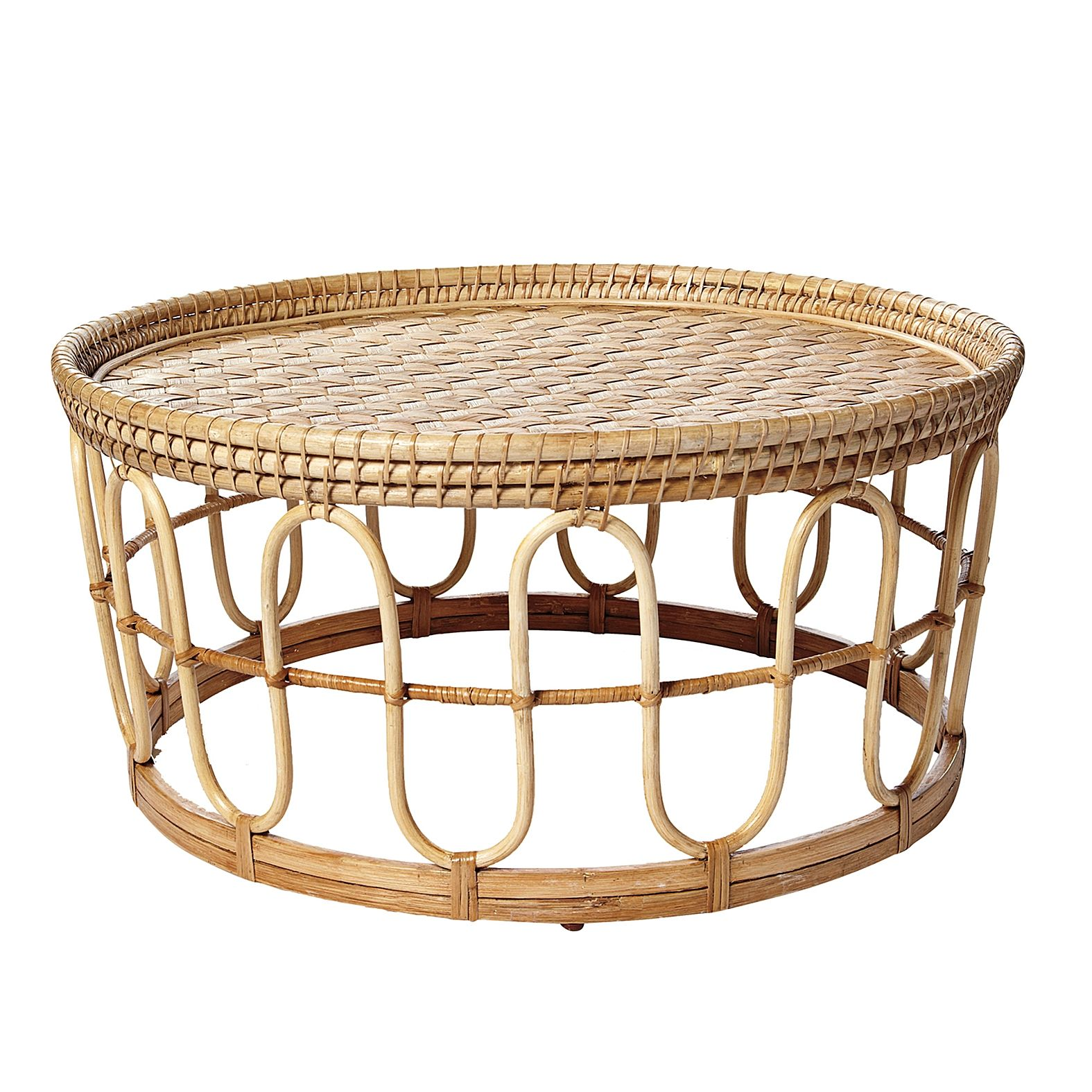 Banda Coffee Table Serena Lily Via Design Sponge Wicker
