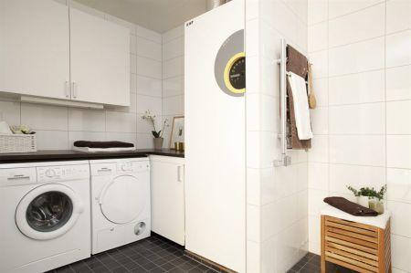 Cuartos de baño con lavadora | Decoracion cuartos de baño, Cabinas ...