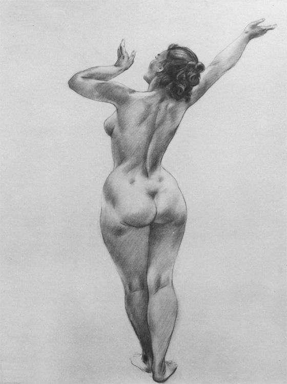 эротический рисунок женской фигуры - 1