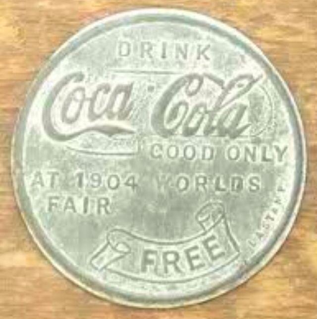 1904 St Louis World Fair's Coca cola free bottle penny