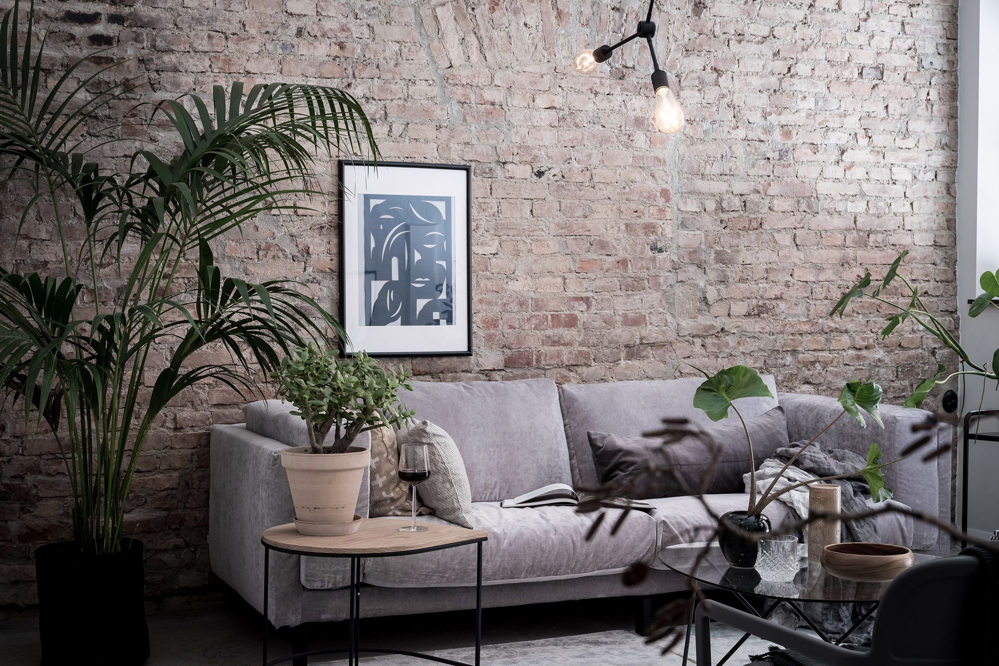 Nockeby, 3 Seater sofa cover | Red brick walls, Modern industrial ...