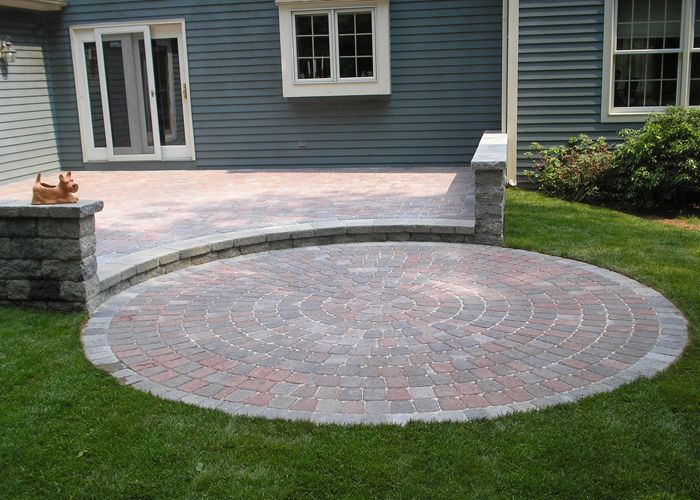 Marvelous Multi Level Paver Patio With Sitting Walls By Bahler Brothers In Connecticut