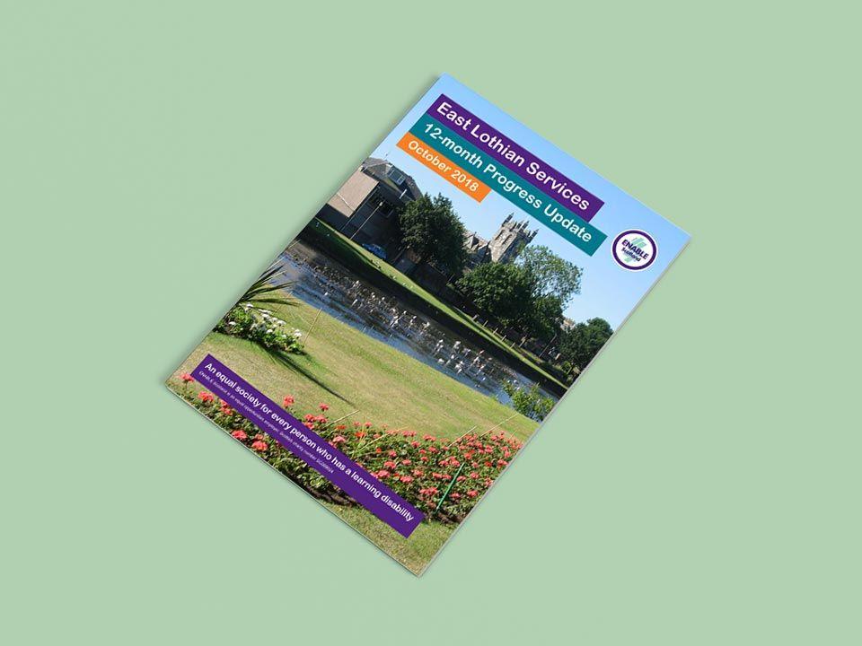East Lothian Services Book Book Design Page Layout Design Print Production