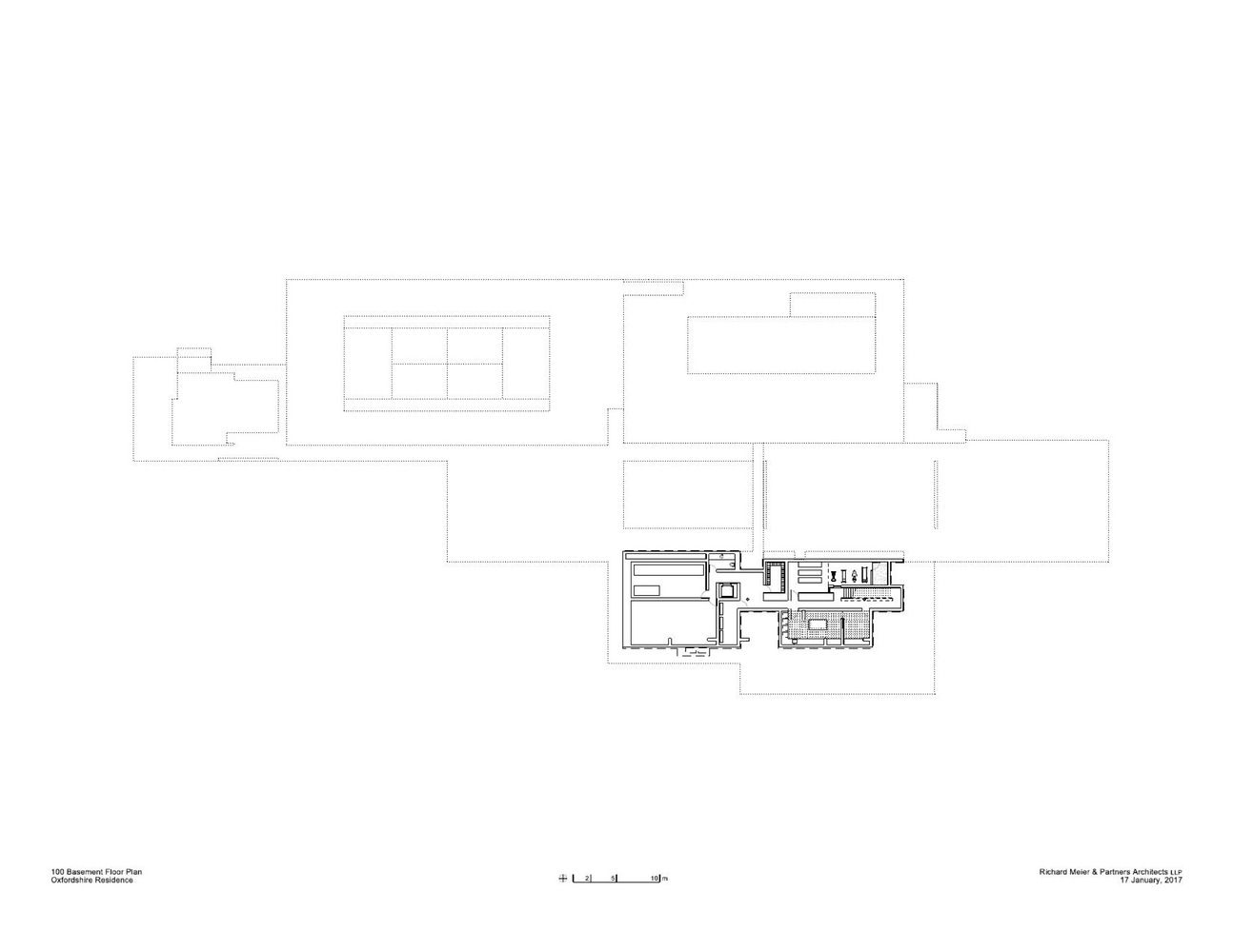 Gallery Of Oxfordshire Residence Richard Meier Partners 32 Richard Meier Basement Floor Plans Oxfordshire