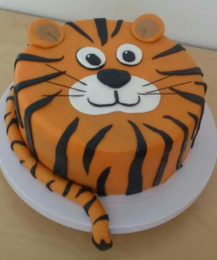 Tremendous Bolo Animais Tiger Cake Animal Birthday Cakes Animal Cakes Personalised Birthday Cards Vishlily Jamesorg