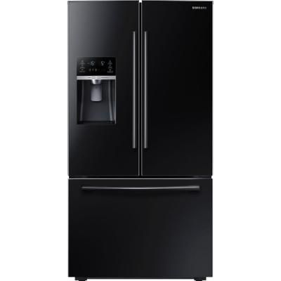 Superb Samsung 22.5 Cu. Ft. French Door Refrigerator In Black, Counter Depth  RF23HCEDBBC