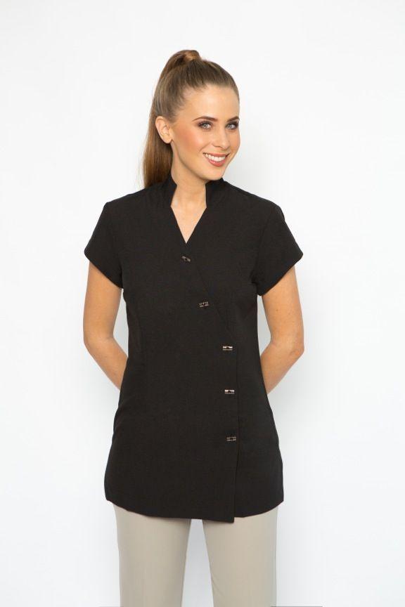 Spa 05 tunic work uniform pinterest spa tunics and for Spa uniform grey