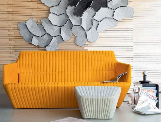 facett sofa and pouf by ligne roset combined with decorative clouds for the wall enjoy. Black Bedroom Furniture Sets. Home Design Ideas